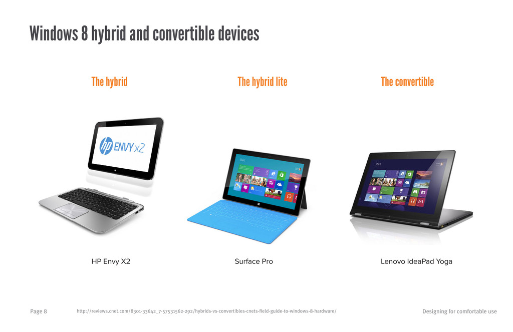 Designing for comfortable use Page 8 Windows 8 ...