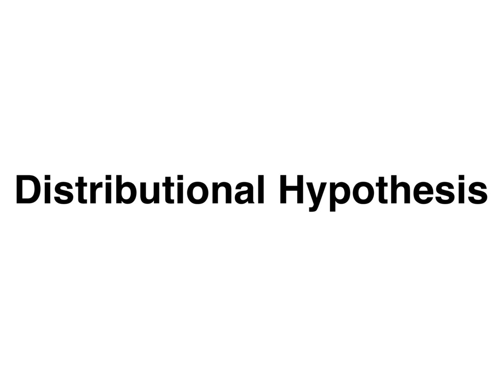 Distributional Hypothesis