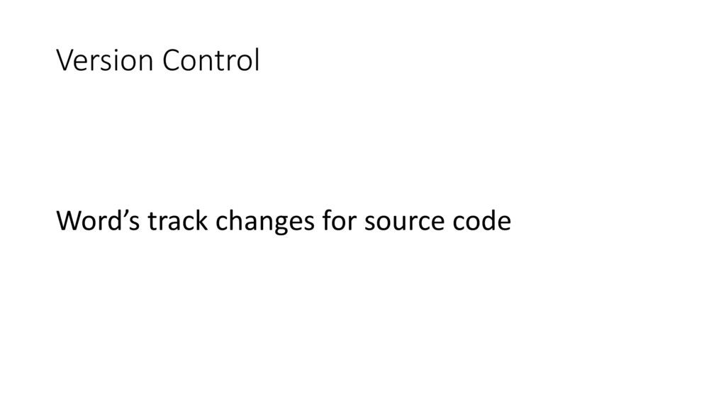 Version Control Word's track changes for source...