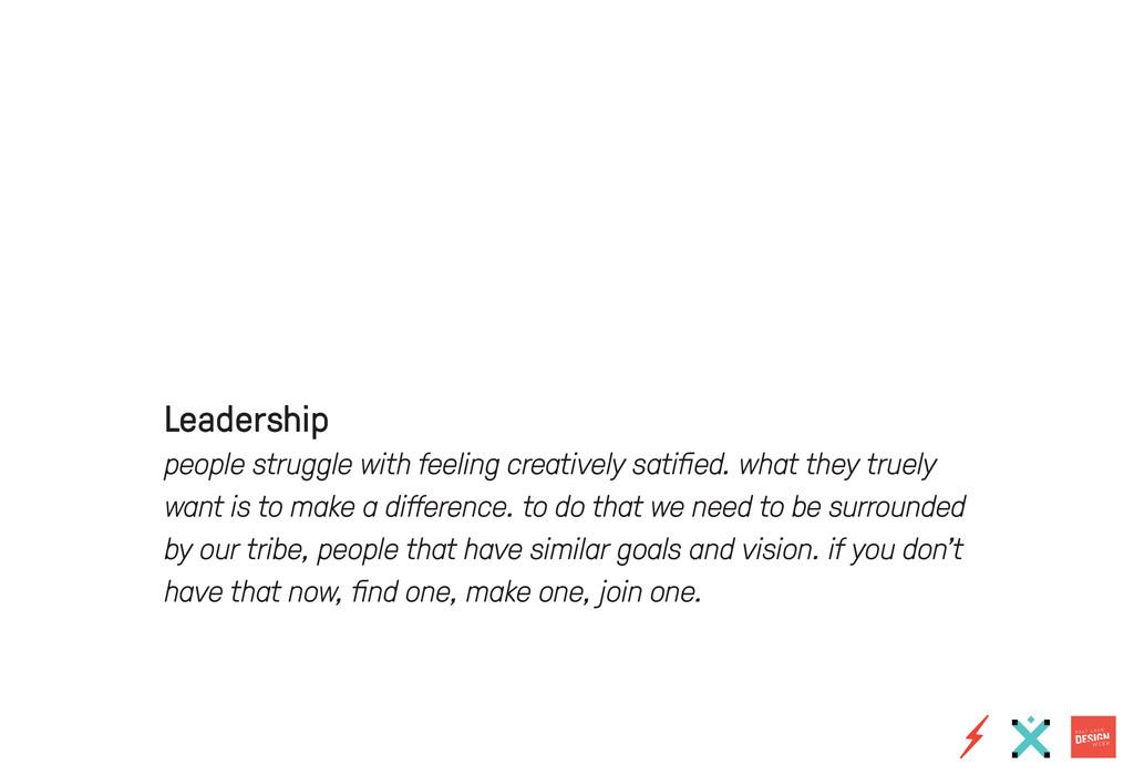 Leadership people struggle with feeling creativ...