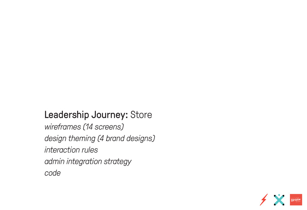 Leadership Journey: Store wireframes (14 screen...