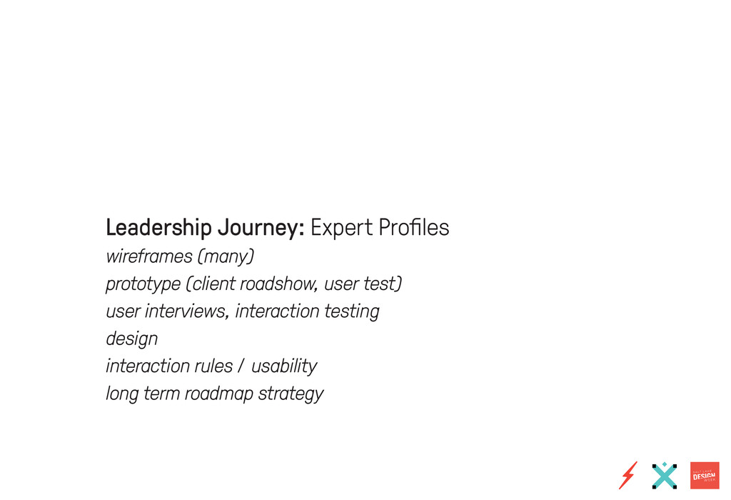 Leadership Journey: Expert Profiles wireframes ...