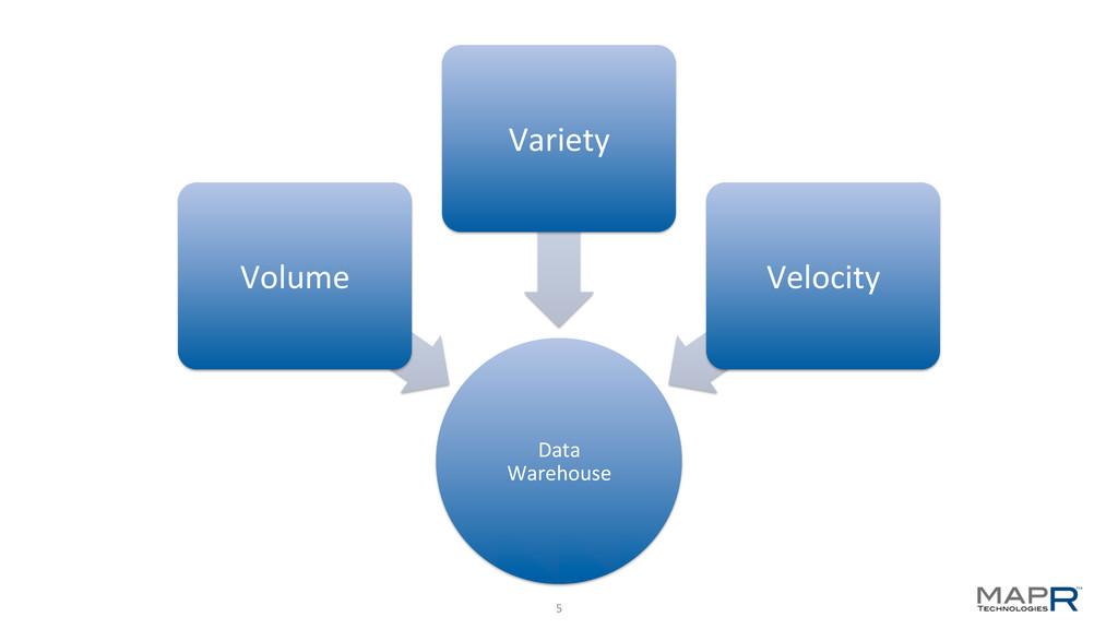 5   Data  Warehouse  Volume  Variet...