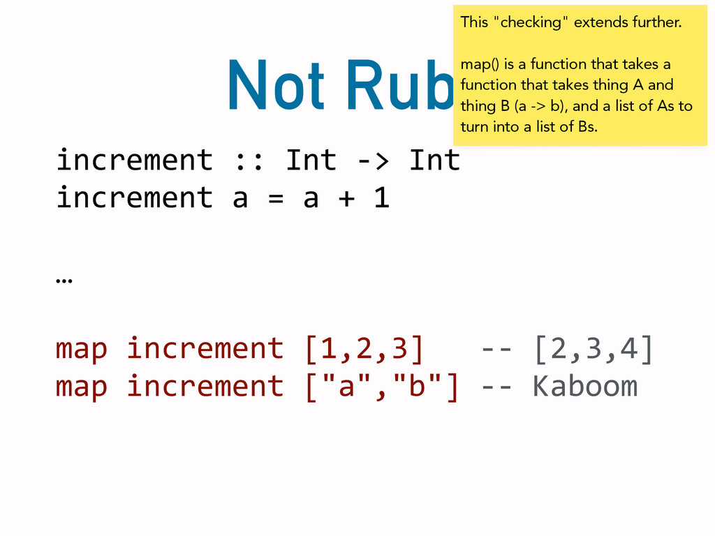 Not Ruby increment	