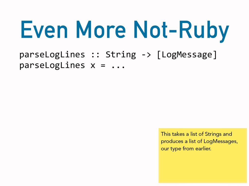 Even More Not-Ruby parseLogLines	
