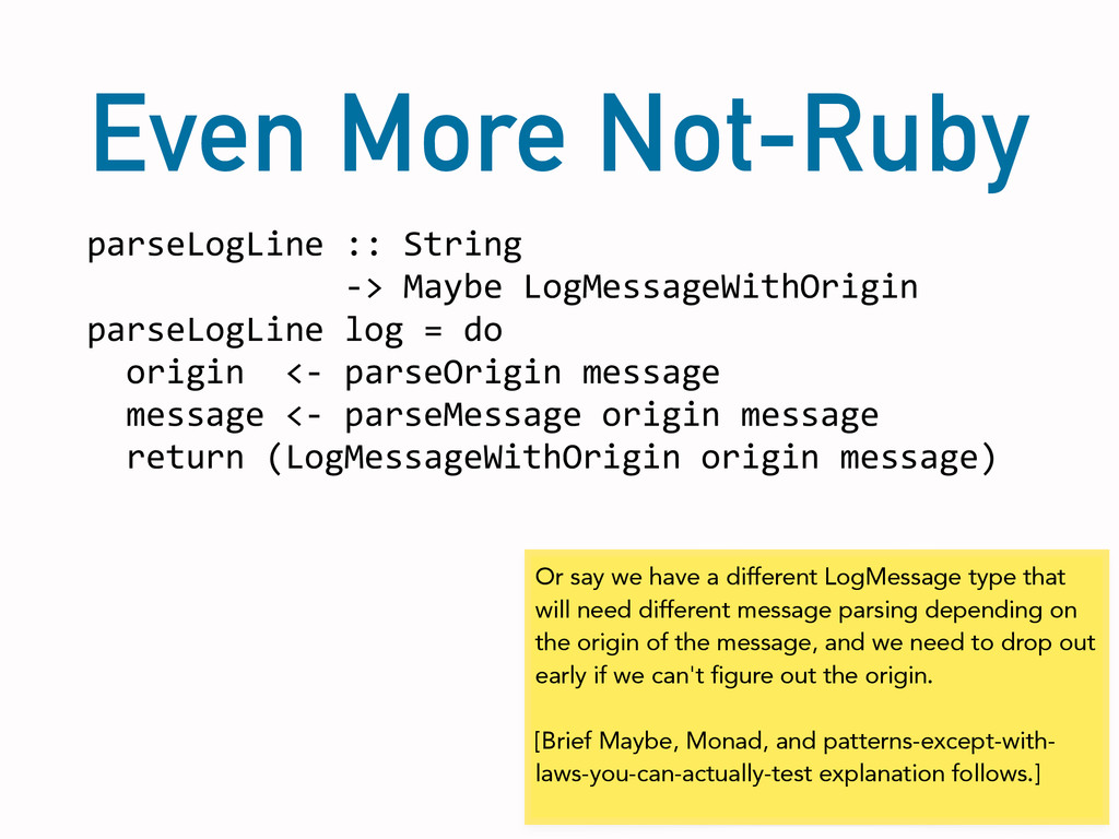 Even More Not-Ruby parseLogLine	