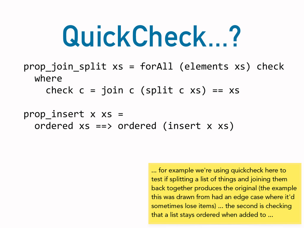 QuickCheck...? prop_join_split	