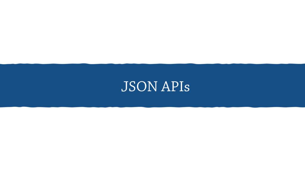 JSON APIs