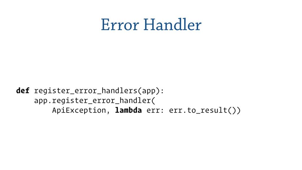 Error Handler def register_error_handlers(app):...