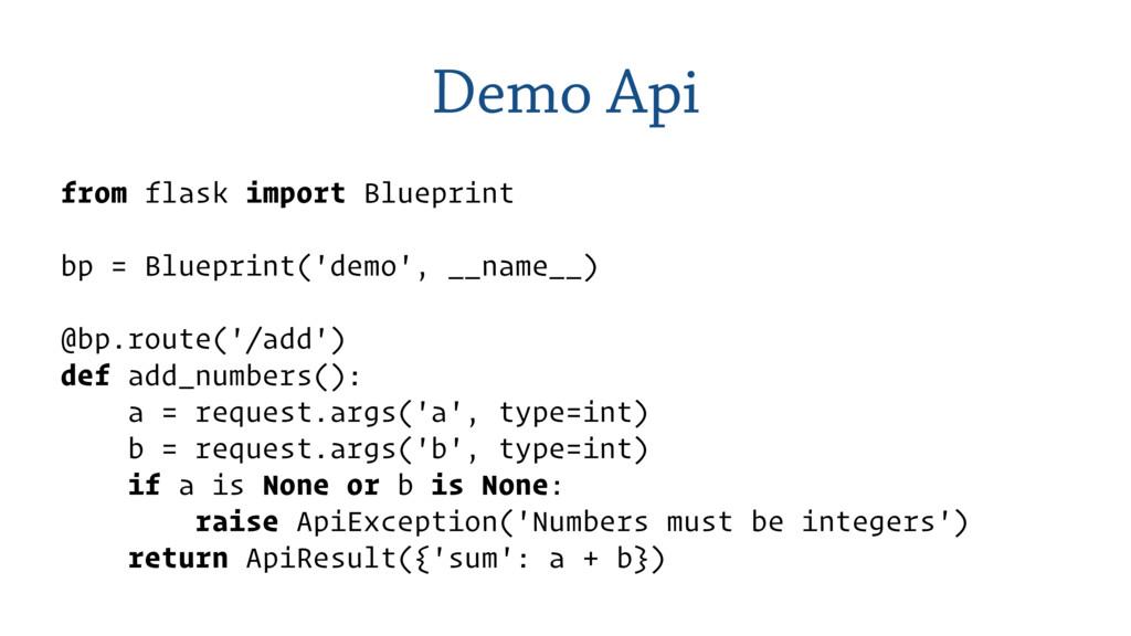 Demo Api from flask import Blueprint bp = Bluep...