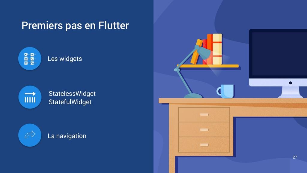 Premiers pas en Flutter 27 La navigation Les wi...
