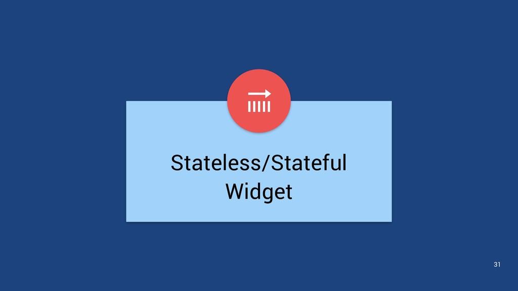 Stateless/Stateful Widget 31