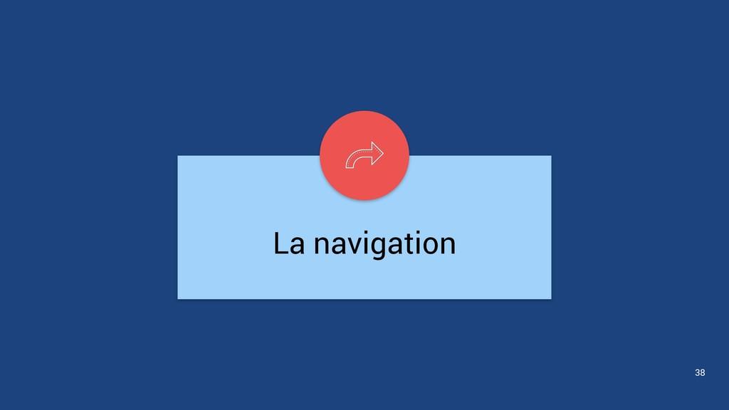 La navigation 38