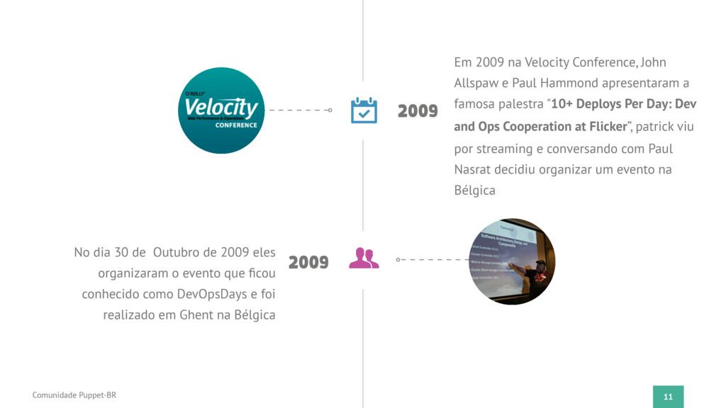 11 Comunidade Puppet-BR 2009 Em 2009 na Velocit...