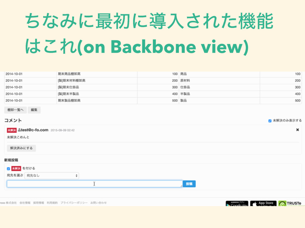 ͪͳΈʹ࠷ॳʹಋೖ͞Εͨػ ͜Ε(on Backbone view)