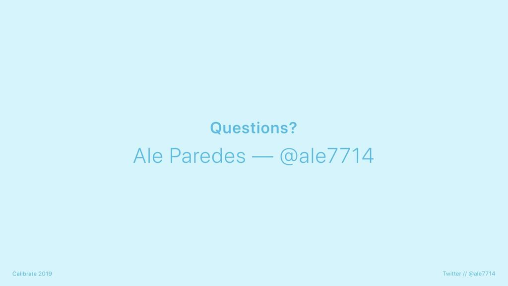 Twitter // @ale7714 Calibrate 2019 Ale Paredes ...