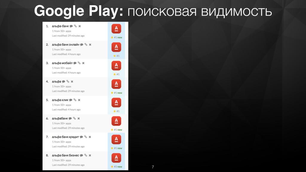 Google Play: поисковая видимость 7