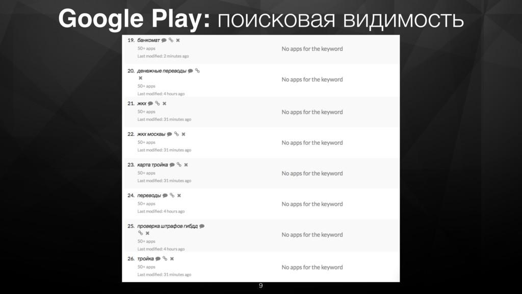 Google Play: поисковая видимость 9