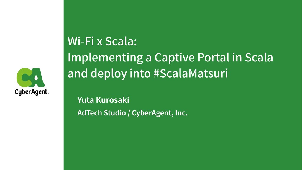 Wi-Fi x Scala: