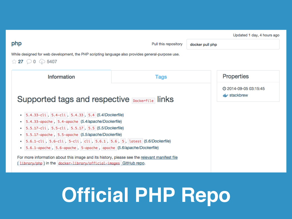 Official PHP Repo