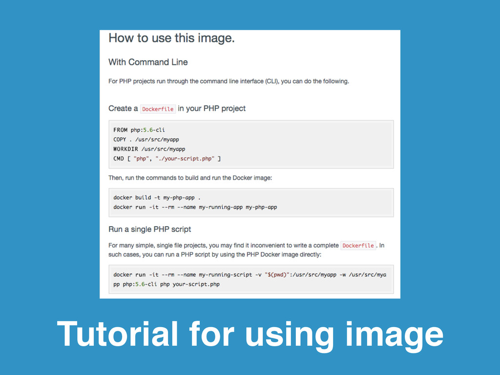 Tutorial for using image