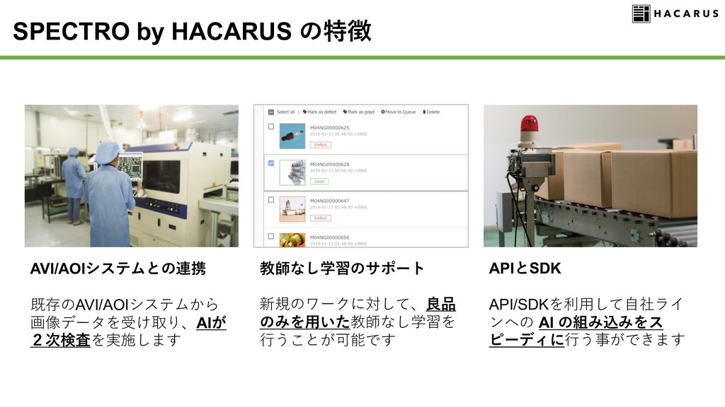 SPECTRO by HACARUS + N I G6 APICSDK API/SDK AI ...