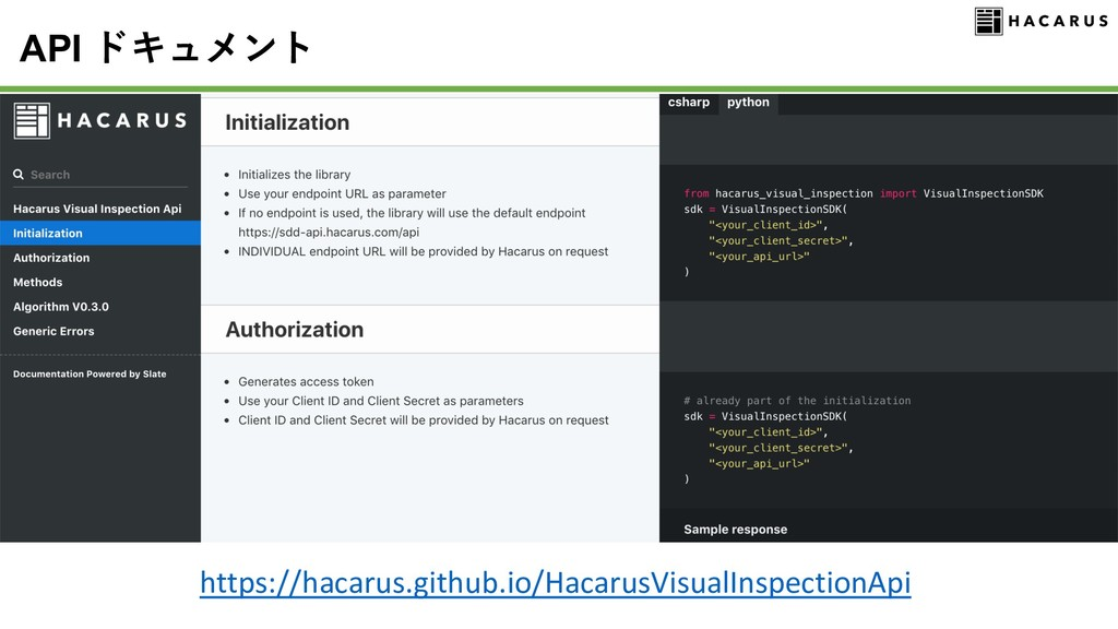 API https://hacarus.github.io/HacarusVisualInsp...