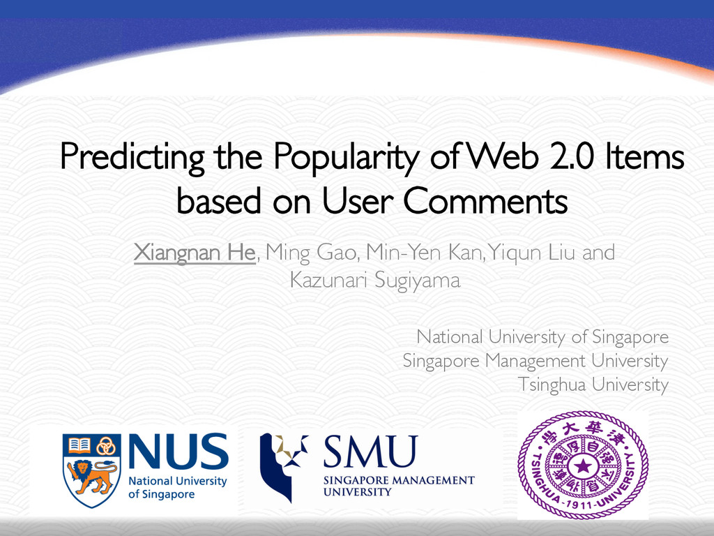 Predicting the Popularity of Web 2.0 Items