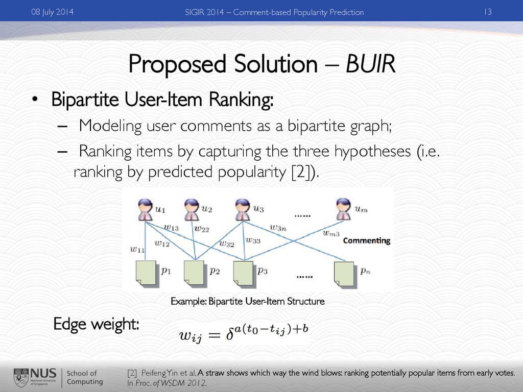 Proposed Solution – BUIR • Bipartite User-Item...