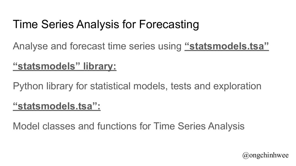 Time Series Analysis for Forecasting Analyse an...