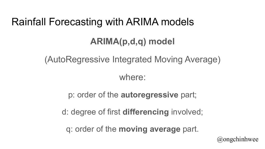 Rainfall Forecasting with ARIMA models ARIMA(p,...