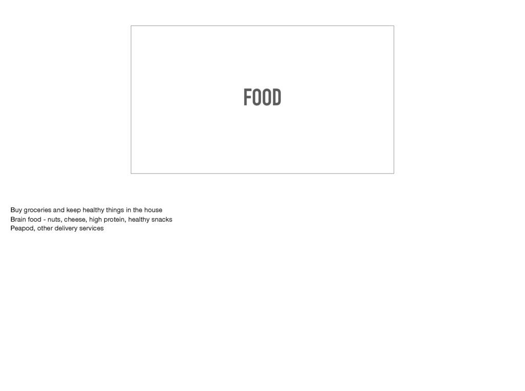 FOOD Buy groceries and keep healthy things in t...