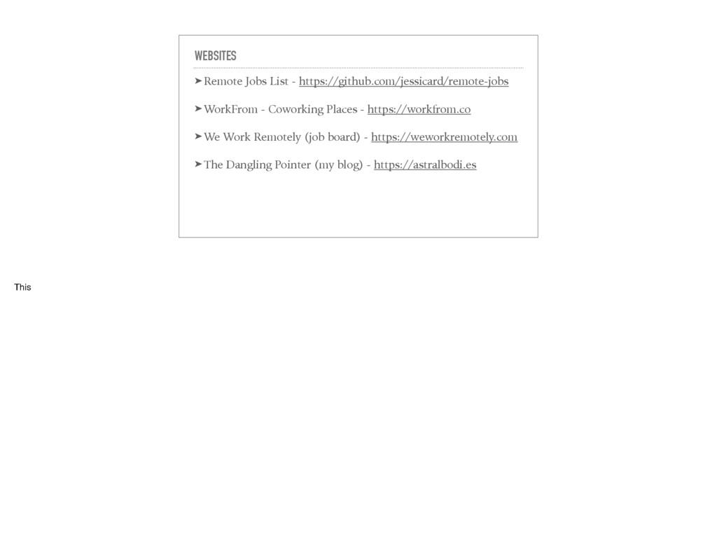 WEBSITES ➤ Remote Jobs List - https://github.co...