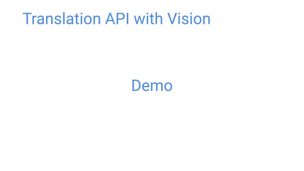 Demo Translation API with Vision
