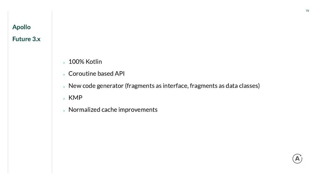 Apollo Future 3.x 79 ● 100% Kotlin ● Coroutine ...
