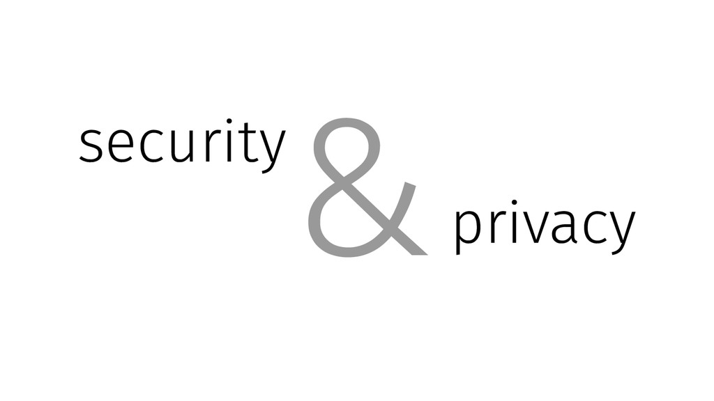 security privacy &