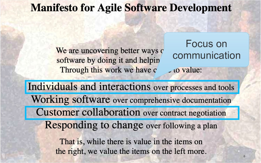!6 Focus on communication