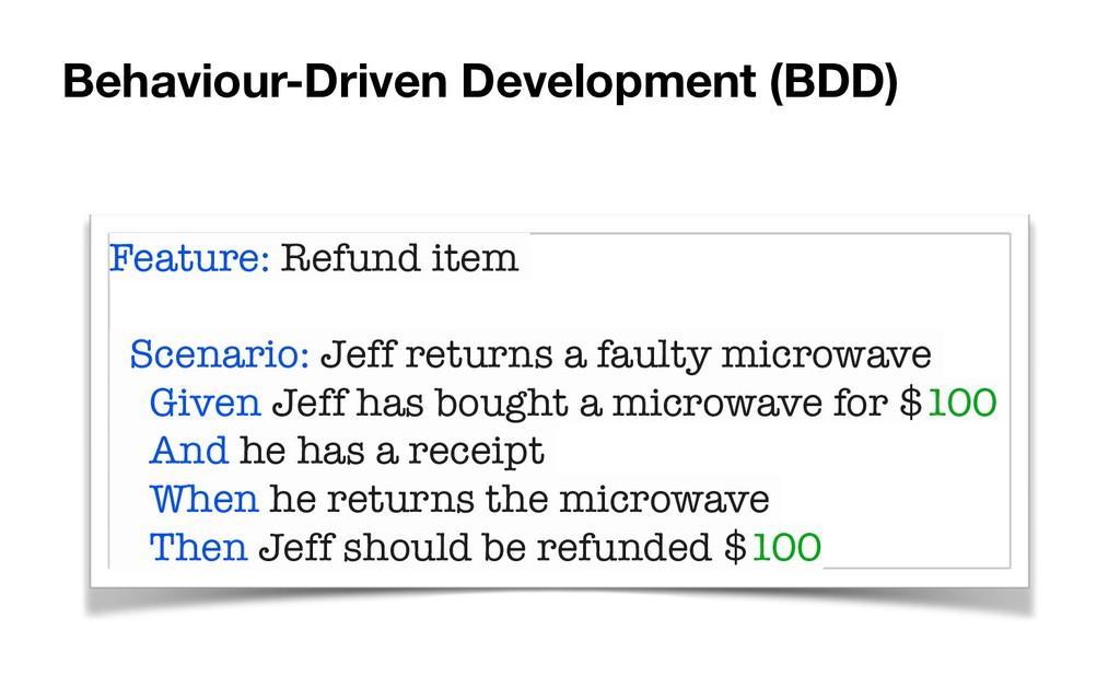 Feature: Refund item Scenario: Jeff returns a f...