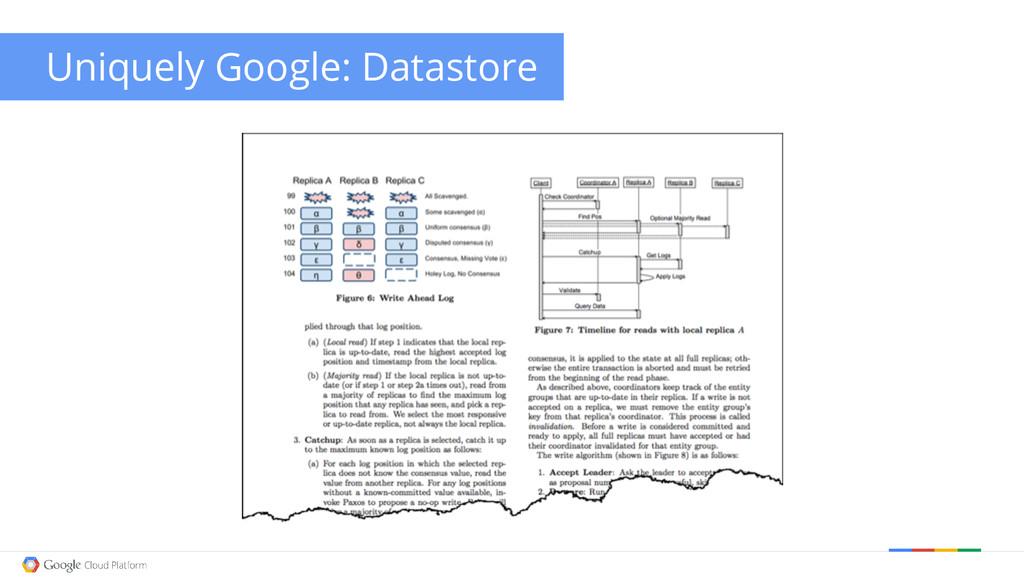 Uniquely Google: Datastore