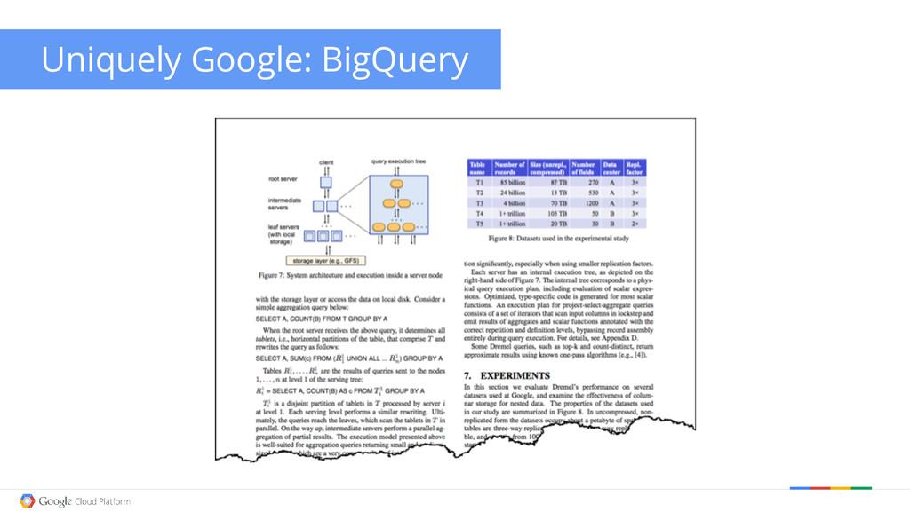 Uniquely Google: BigQuery