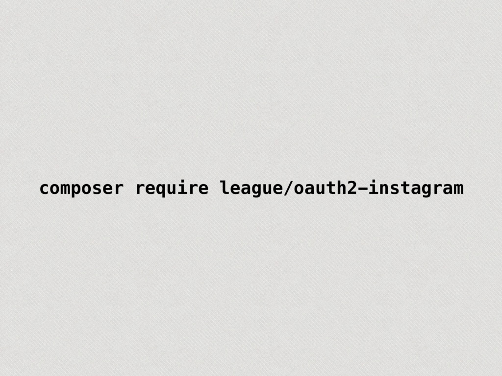 composer require league/oauth2-instagram