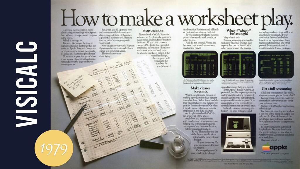VisiCalc 1979