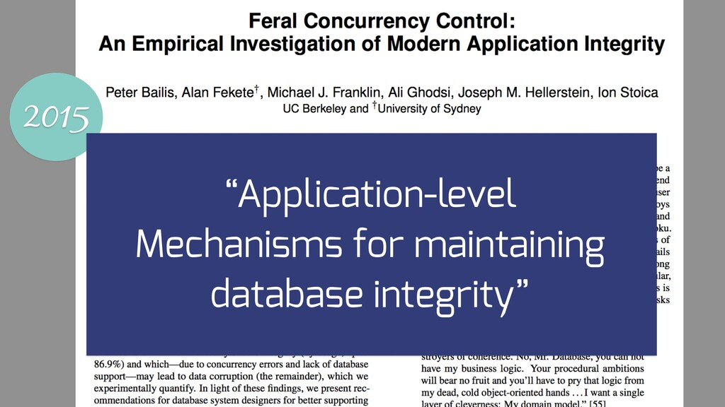 "2015 ""Application-level Mechanisms for maintain..."