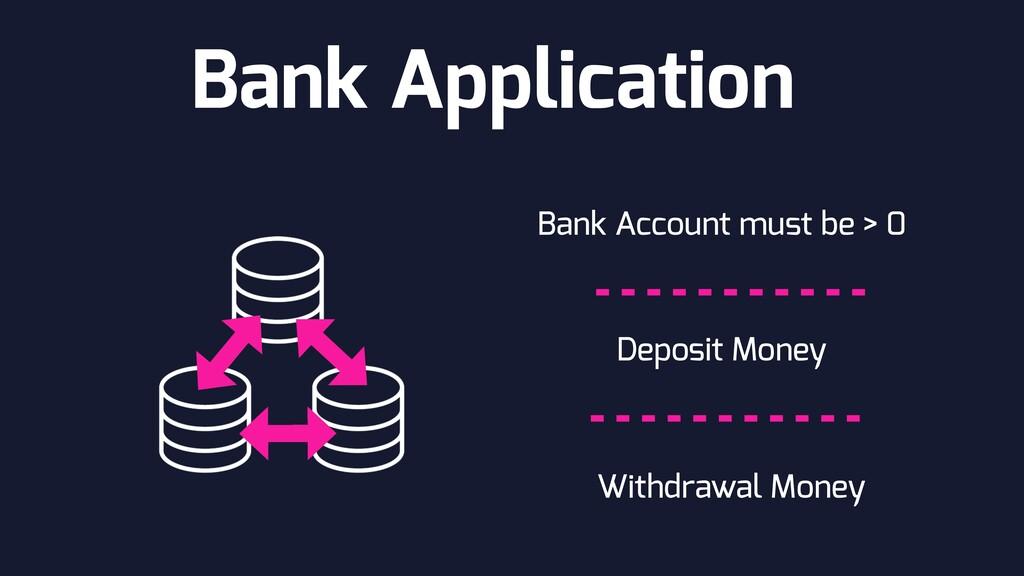 Bank Application Bank Account must be > 0 Depos...