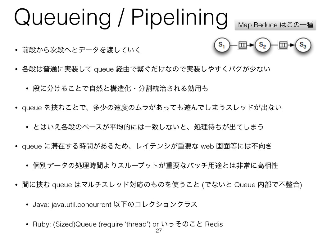 Queueing / Pipelining • લஈ͔ΒஈͱσʔλΛ͍ͯ͘͠ • ֤ஈ...
