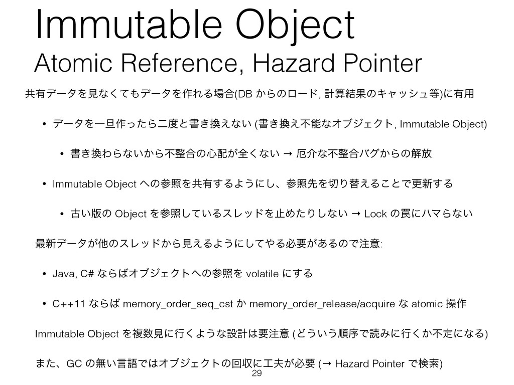 Immutable Object Atomic Reference, Hazard Point...