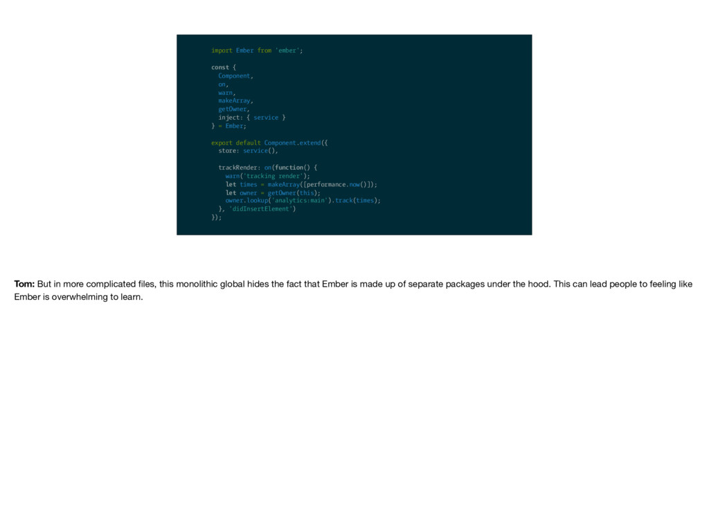 import Ember from 'ember'; const { Component, o...