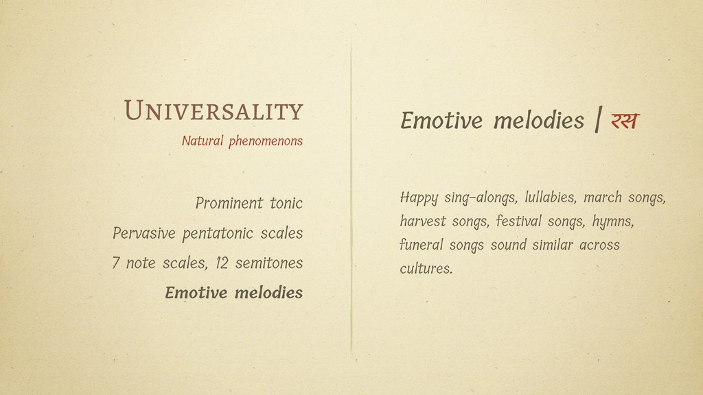 Universality Natural phenomenons Prominent toni...