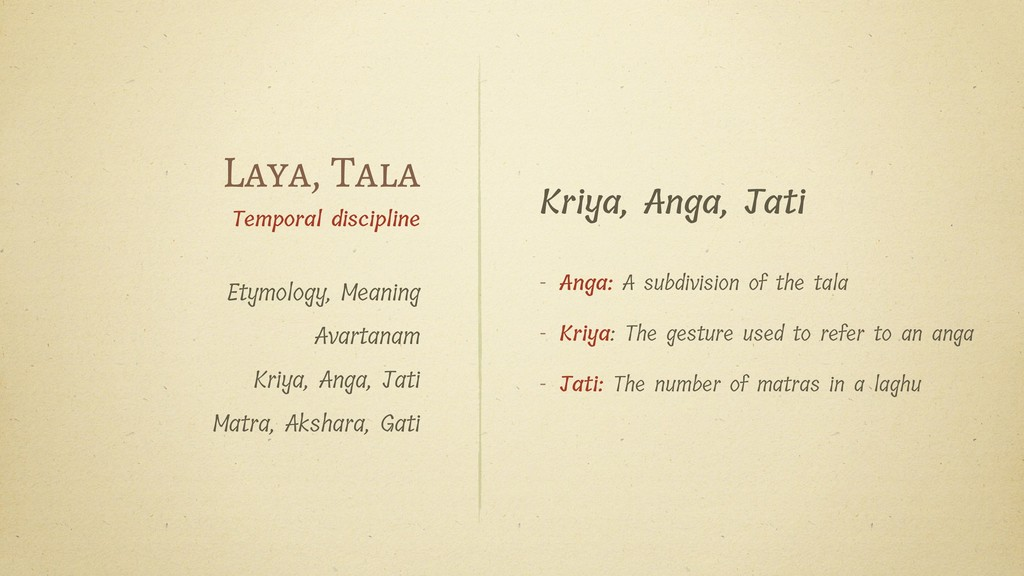 Kriya, Anga, Jati - Anga: A subdivision of the ...