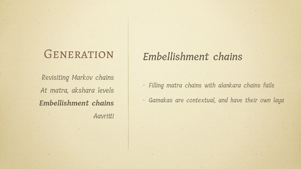 Embellishment chains - Filling matra chains wit...